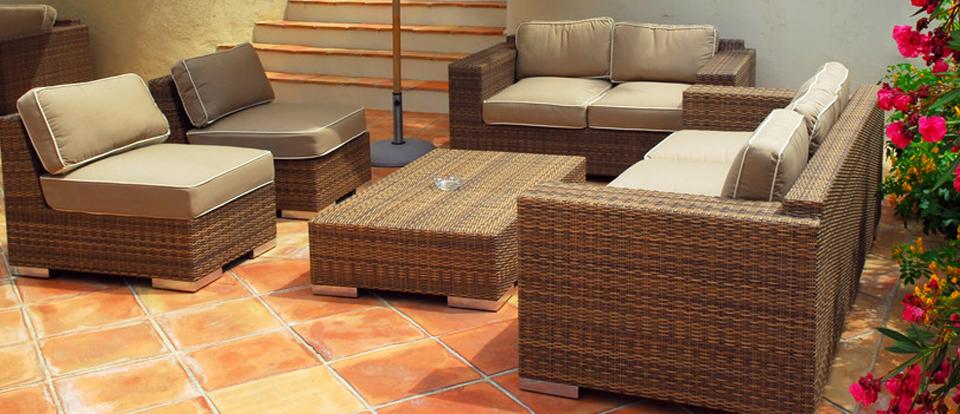 Muebles de mimbre baratos patio muebles de jardn mimbre for Muebles terraza rattan pvc chile